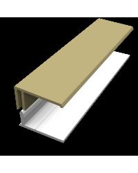 2-DELIG U-PROFIEL CAPPUCINO
