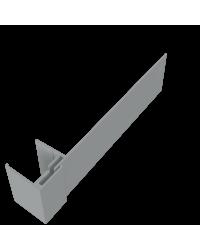 KLIPSHOEK 130/50mm DONKERGRIJS