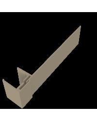 KLIPSHOEK 130/50mm TAUPE