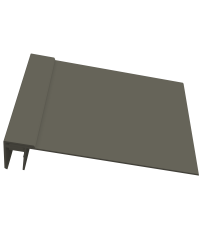 KLIPSHOEK 130/50mm KWARTSGRIJS