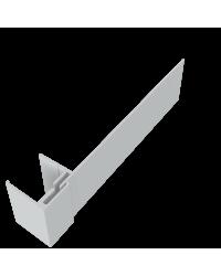 KLIPSHOEK 130/50mm CEMENTGRIJS