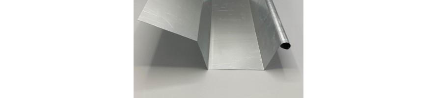 Vierkante goot in zink 8/12/8 met slab