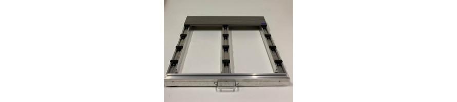 Aluminium draagbalken voor terrasplanken