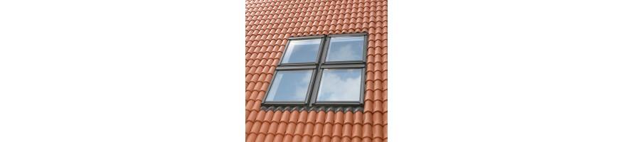 Multi-gootstukken voor dakvensters boven en/of naast elkaar