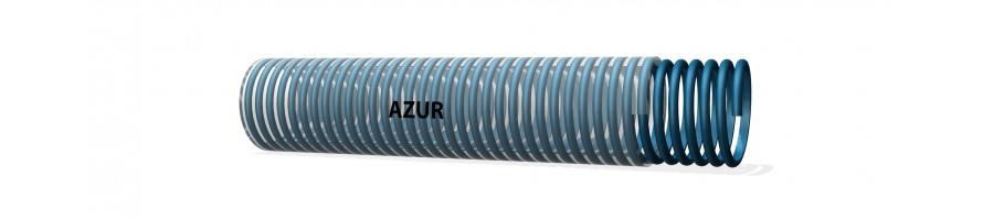 Azur darm transparant, blauwe spiraal