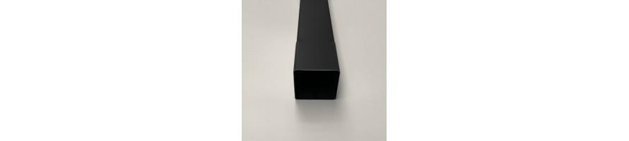 Vierkante buis in zink zwart